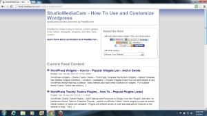 WordPress RSS Feed image