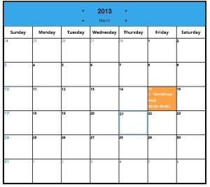 Add Calendar to WordPress